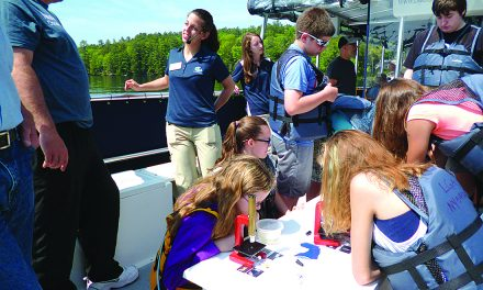 Students study water quality in Lake George