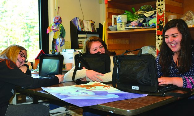 Middle, high school students receive Chromebooks