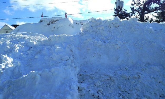 Snow fort towered in Speculator
