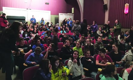 Students visit Indian Lake Theater