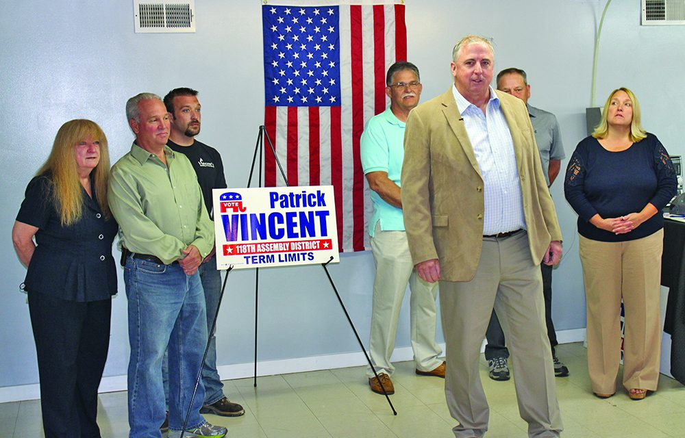 Vincent announces candidacy for assembly